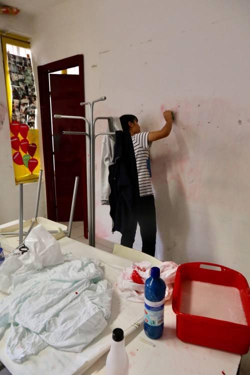 Volontari nella scuola dopo gli atti vandalici  2