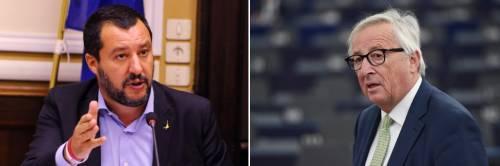 """Spread, Salvini contro Juncker: """"Parlo con persone sobrie..."""""""