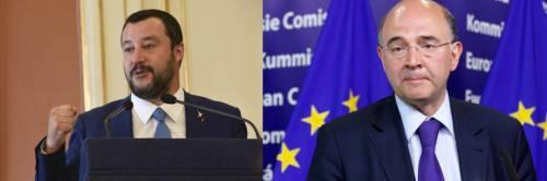 """""""Xenofobo"""", """"Parli a vanvera"""". È scontro Moscovici-Salvini"""