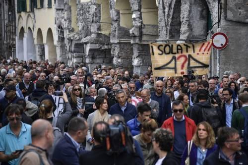 Genova, la protesta contro il governo 5