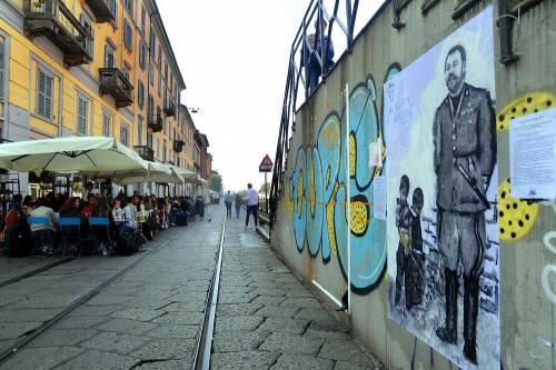 """""""Una pis...ata vi seppellirà"""", nuovo murales anti Salvini a Milano 3"""