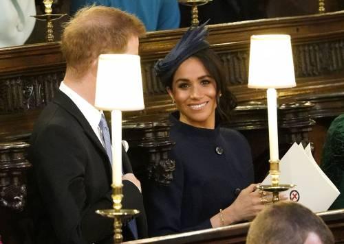 Meghan Markle alle nozze della Principessa Eugenia: foto