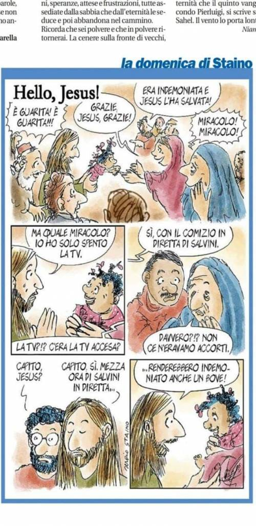 """La vignetta di Staino: """"Salvini fa indemoniare"""""""