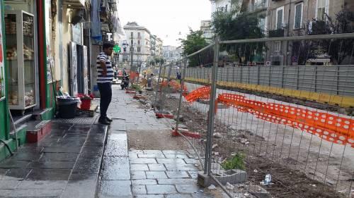 Napoli, via Carbonara in ginocchio per i cantieri 5