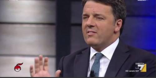 """Renzi attacca il governo. Ma Floris lo gela così: """"Ha titolo per parlare?"""""""