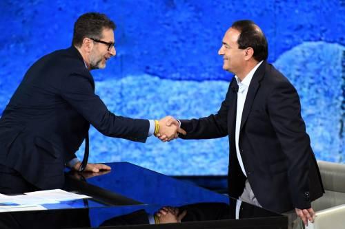 """Fazio fa """"propaganda"""" a Lucano. Salvini: """"Informazione a senso unico"""""""