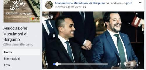 I post contro Salvini, Putin e Israele dell'associazione musulmani di Bergamo