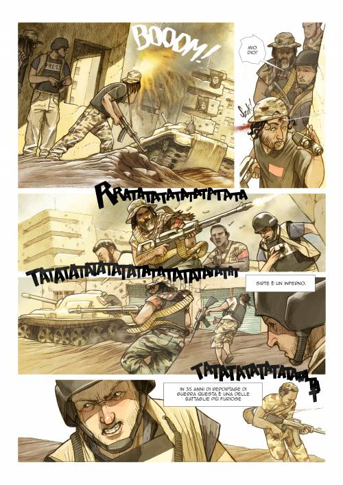 Le immagini inedite del fumetto di Biloslavo  3