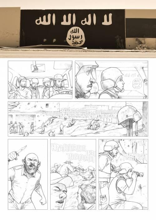 Le immagini inedite del fumetto di Biloslavo  13