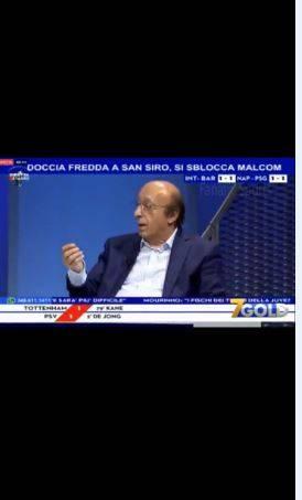 Inter, Moggi critica Icardi che dopo tre minuti segna. Tramontana lo zittisce