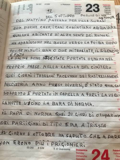 Il diario inedito del cugino di Norma Cossetto 8