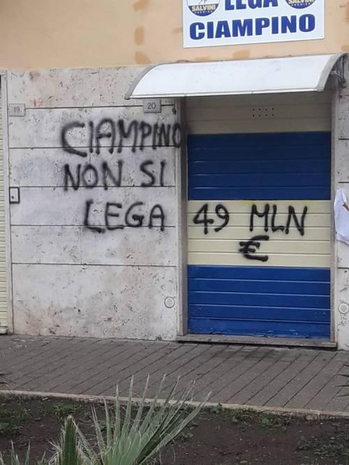 Ciampino, secondo raid vandalico in 15 giorni alla sede della Lega