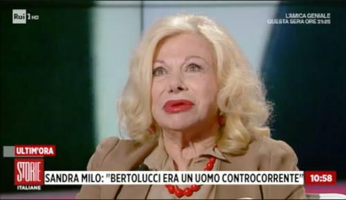 """Bertolucci, Sandra Milo in lacrime in tv: """"Scompare un mondo"""""""