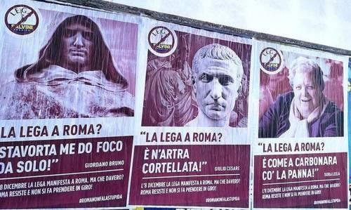 A Roma il raid anti leghista per attaccare Salvini