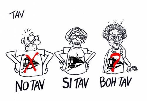 Ora Travaglio non pubblica la vignetta di Vauro su Toninelli e la Tav
