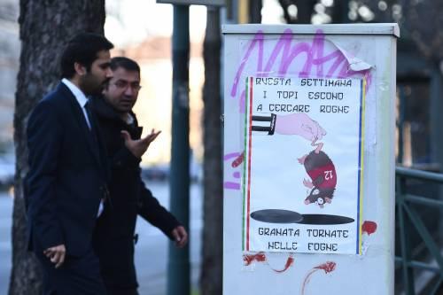 """Poster contro il Torino: """"Topi granata tornate nelle fogne"""""""