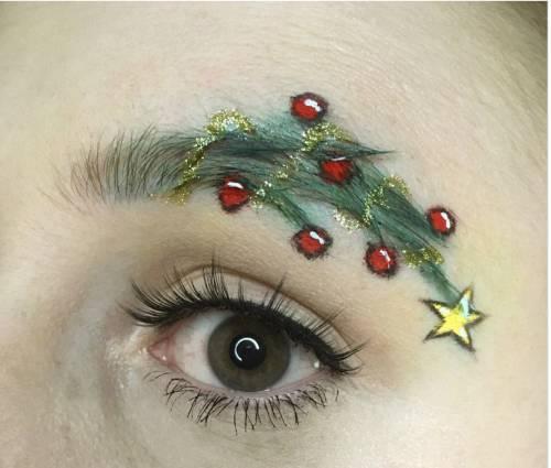 Sopracciglia natalizie, l'ultimo trend delle feste 3