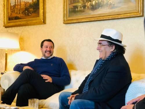Salvini incontra Al Bano 2