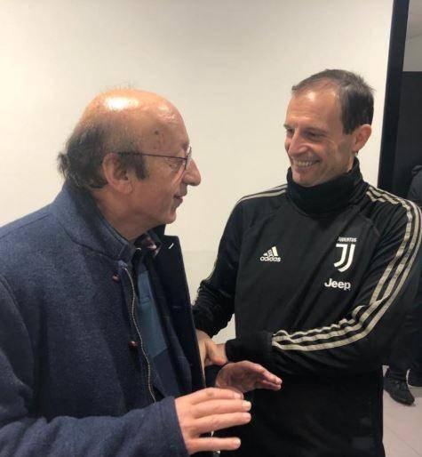 Juventus, Moggi in visita alla Continassa: e sui social è polemica