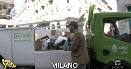 Anche nella Milano di Sala buttate via le coperte dei clochard