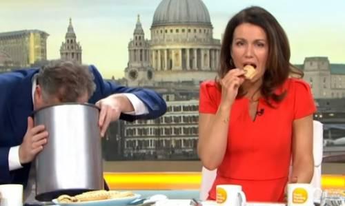 Sputa sandwich vegano in diretta tv: polemiche per il gesto di Morgan