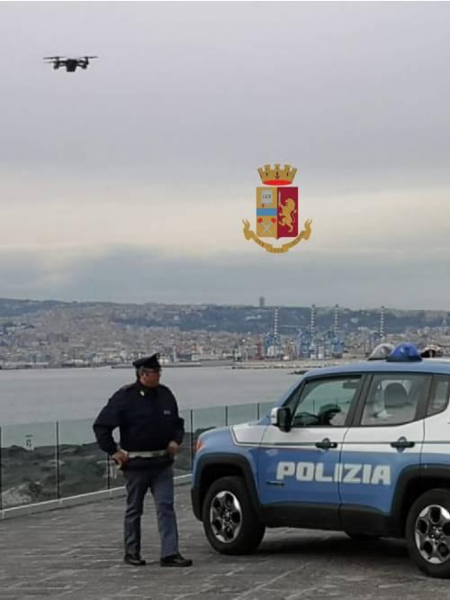 Campania, i controlli della Polfer con il drone