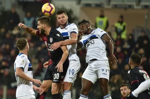 L'Atalanta stende il Cagliari nel finale: 0-2 siglato Zapata-Pasalic