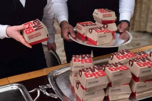 Donald Trump e la cena fast food 2