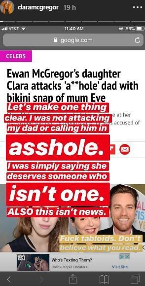 Clara McGregor, le immagini della sexy figlia di Ewan McGregor 3
