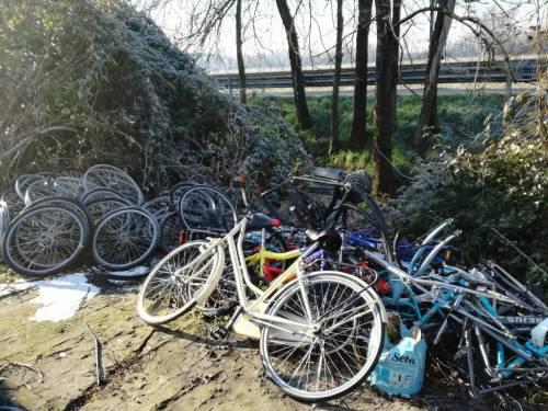 Il degrado del campo rom di via Martirano 7