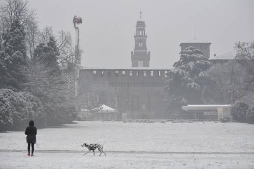 Arriva il maltempo: ecco la città di Milano imbiancata  3