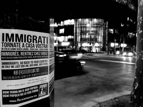 I volantini anti immigrati di Fn 3