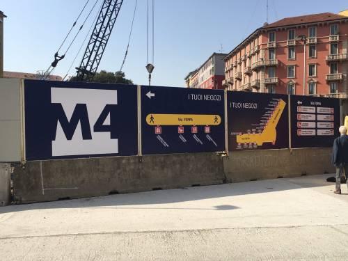 """""""Serrande giù per i cantieri M4, ora la giunta riveda i bandi"""""""