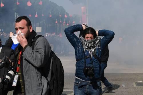 Proteste a Tirana contro il governo 2