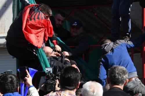 Proteste a Tirana contro il governo 1