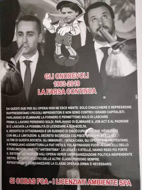 I Cobas preparano il benvenuto a Pomigliano per Di Maio e Salvini