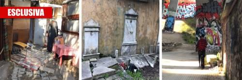 """Roma, ecco il cimitero """"occupato"""" dai rom"""
