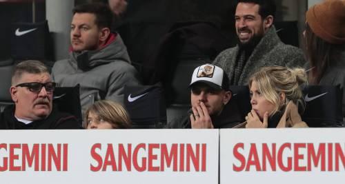 Inter-Sampdoria vista da Icardi e Wanda Nara: sorridenti e felici a bordo campo 2
