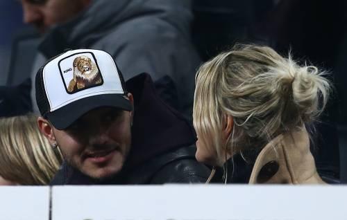Inter-Sampdoria vista da Icardi e Wanda Nara: sorridenti e felici a bordo campo 3
