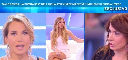 """Taylor Mega attaccata da Vladimir Luxuria: """"C'è chi non ha 1 milione di euro al mese'"""