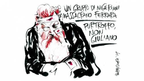 Il Fatto ci ricasca: dopo Bossi, vignetta choc su Giuliano Ferrara
