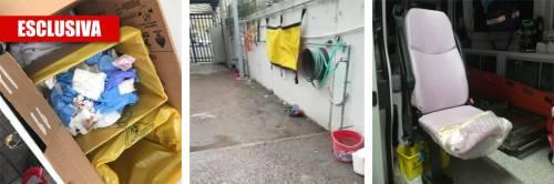 La denuncia dei soccorritori: Divise sporche e ambulanze fatiscenti