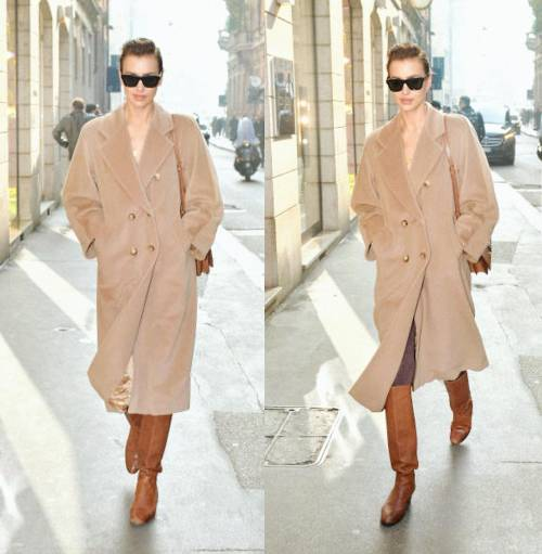 Milano Fashion Week 2019: Irina Shayk fa shopping nelle boutique di Milano 1