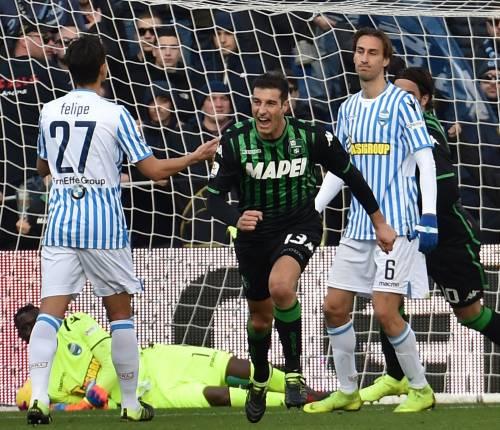 Serie A, la Sampdoria vince di rigore. Pareggi in Sassuolo-Spal e Chievo-Genoa