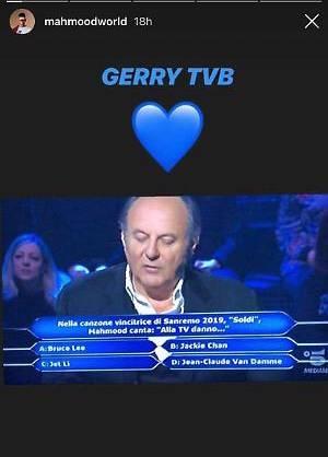Chi vuol essere milionario?, il concorrente fa una gaffe su Mahmood: Gerry non ci sta