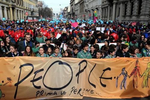 """Milano, le immagini della manifestazione """"People, prima le persone"""" 2"""
