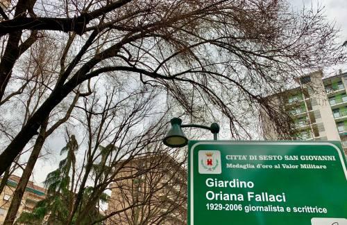 Invece della moschea il sindaco inaugura i giardini Oriana Fallaci