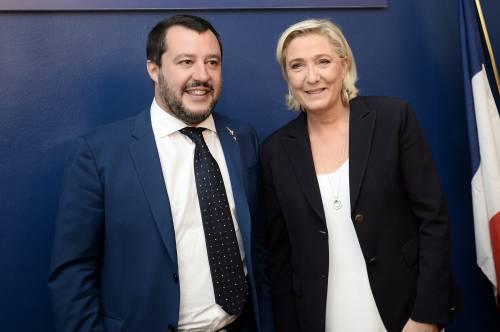"""Le Pen-Salvini, vertice a Parigi: """"È l'inizio di una nuova Europa"""""""