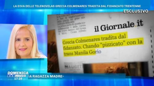 """Grecia Colmenares sul tradimento: """"Un regalo di Dio!"""", lo sfogo a Domenica Live"""