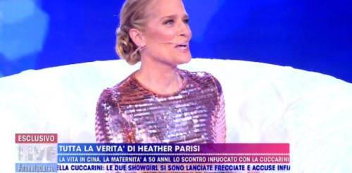 Live:Non è la D'Urso, Heather Parisi attacca la Cuccarini